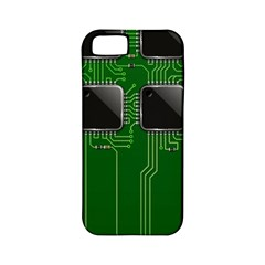Green Circuit Board Pattern Apple iPhone 5 Classic Hardshell Case (PC+Silicone)