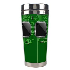 Green Circuit Board Pattern Stainless Steel Travel Tumblers