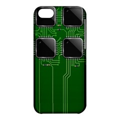 Green Circuit Board Pattern Apple iPhone 5C Hardshell Case