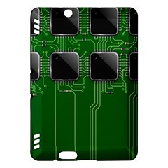 Green Circuit Board Pattern Kindle Fire Hdx Hardshell Case