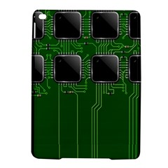 Green Circuit Board Pattern iPad Air 2 Hardshell Cases