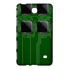Green Circuit Board Pattern Samsung Galaxy Tab 4 (8 ) Hardshell Case