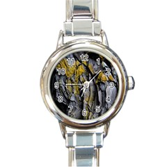 Grey Yellow Stone Round Italian Charm Watch