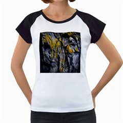 Grey Yellow Stone Women s Cap Sleeve T