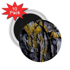 Grey Yellow Stone 2.25  Magnets (10 pack)