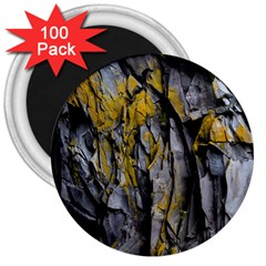 Grey Yellow Stone 3  Magnets (100 pack)