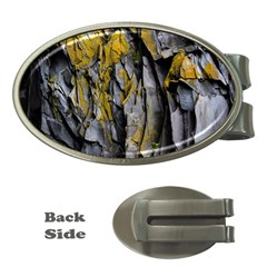 Grey Yellow Stone Money Clips (Oval)