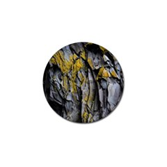 Grey Yellow Stone Golf Ball Marker (4 pack)
