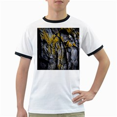 Grey Yellow Stone Ringer T-Shirts