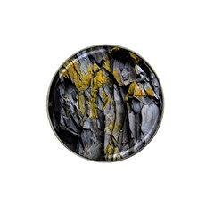 Grey Yellow Stone Hat Clip Ball Marker