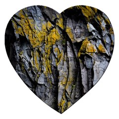 Grey Yellow Stone Jigsaw Puzzle (Heart)