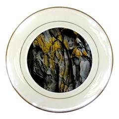 Grey Yellow Stone Porcelain Plates