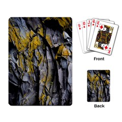 Grey Yellow Stone Playing Card