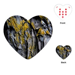 Grey Yellow Stone Playing Cards (Heart)
