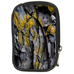 Grey Yellow Stone Compact Camera Cases