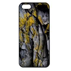 Grey Yellow Stone Apple iPhone 5 Seamless Case (Black)
