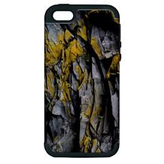 Grey Yellow Stone Apple iPhone 5 Hardshell Case (PC+Silicone)