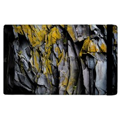 Grey Yellow Stone Apple Ipad 3/4 Flip Case