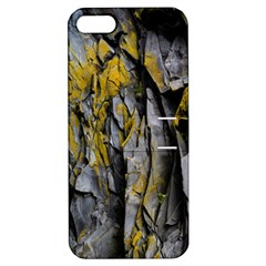 Grey Yellow Stone Apple Iphone 5 Hardshell Case With Stand
