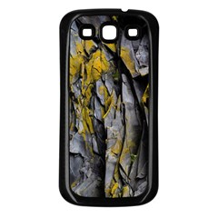 Grey Yellow Stone Samsung Galaxy S3 Back Case (Black)