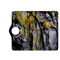Grey Yellow Stone Kindle Fire HDX 8.9  Flip 360 Case