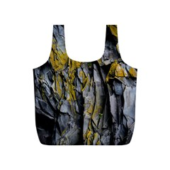Grey Yellow Stone Full Print Recycle Bags (S)