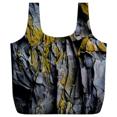 Grey Yellow Stone Full Print Recycle Bags (L)