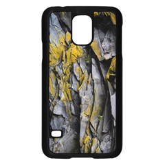 Grey Yellow Stone Samsung Galaxy S5 Case (Black)