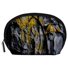Grey Yellow Stone Accessory Pouches (Large)