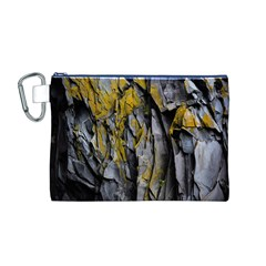 Grey Yellow Stone Canvas Cosmetic Bag (M)