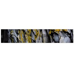 Grey Yellow Stone Flano Scarf (large)