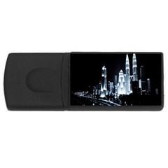 Kuala Lumpur Urban Night Building USB Flash Drive Rectangular (2 GB)