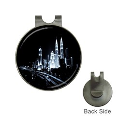 Kuala Lumpur Urban Night Building Hat Clips with Golf Markers