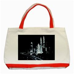 Kuala Lumpur Urban Night Building Classic Tote Bag (Red)