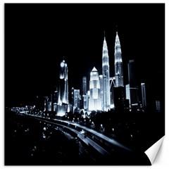Kuala Lumpur Urban Night Building Canvas 16  x 16