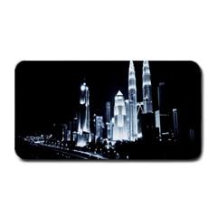 Kuala Lumpur Urban Night Building Medium Bar Mats