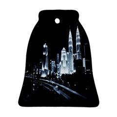 Kuala Lumpur Urban Night Building Bell Ornament (Two Sides)