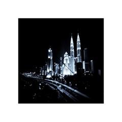 Kuala Lumpur Urban Night Building Acrylic Tangram Puzzle (4  x 4 )