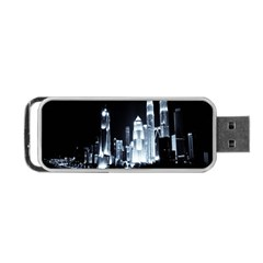 Kuala Lumpur Urban Night Building Portable USB Flash (One Side)