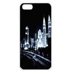 Kuala Lumpur Urban Night Building Apple iPhone 5 Seamless Case (White)
