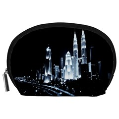 Kuala Lumpur Urban Night Building Accessory Pouches (Large)