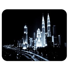 Kuala Lumpur Urban Night Building Double Sided Flano Blanket (medium)