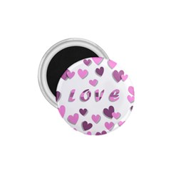 Love Valentine S Day 3d Fabric 1.75  Magnets