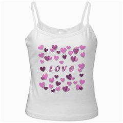 Love Valentine S Day 3d Fabric White Spaghetti Tank