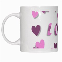 Love Valentine S Day 3d Fabric White Mugs