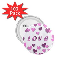 Love Valentine S Day 3d Fabric 1.75  Buttons (100 pack)