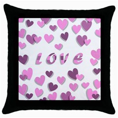 Love Valentine S Day 3d Fabric Throw Pillow Case (Black)