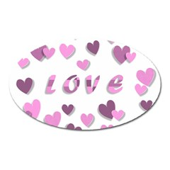 Love Valentine S Day 3d Fabric Oval Magnet