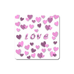 Love Valentine S Day 3d Fabric Square Magnet