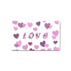 Love Valentine S Day 3d Fabric Magnet (Name Card)